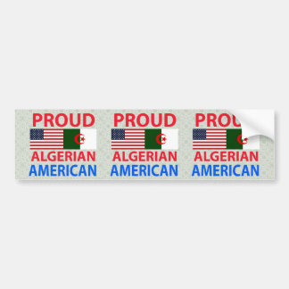 Proud Algerian American Car Bumper Sticker