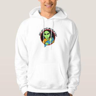 Proud alien daddy hooded sweatshirts