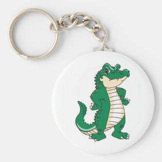 Proud Alligator Basic Round Button Keychain