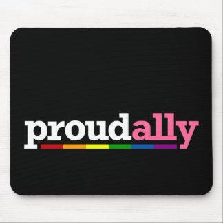 Proud Ally Black Mousepad