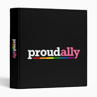 Proud Ally Dark Avery Binder
