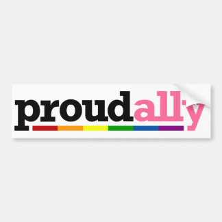 Proud Ally White Bumper Sticker Car Bumper Sticker
