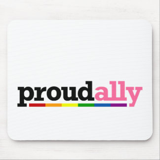 Proud Ally White Mousepad