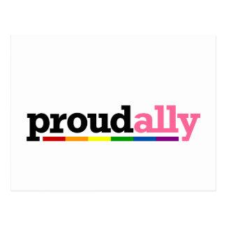 Proud Ally White Postcard