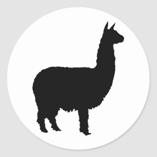 Proud Alpaca Classic Round Sticker