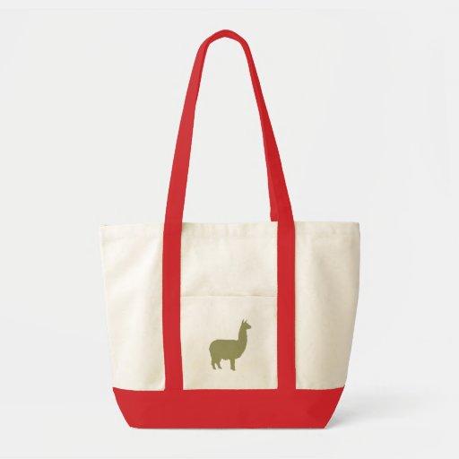 Proud Alpaca (in sage green) Tote Bags