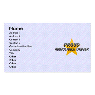 Proud Ambulance Driver Business Cards