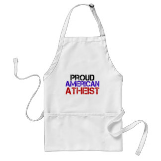 Proud American Atheist Adult Apron