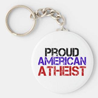 Proud American Atheist Keychain