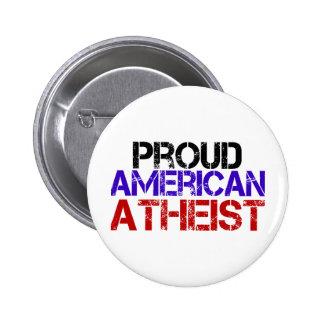 Proud American Atheist Pinback Button