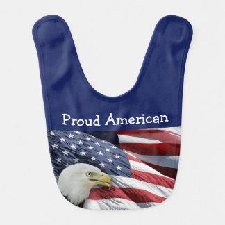 Proud American Baby Boy Or Girl Bibs