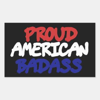 Proud American Badass Rectangular Sticker