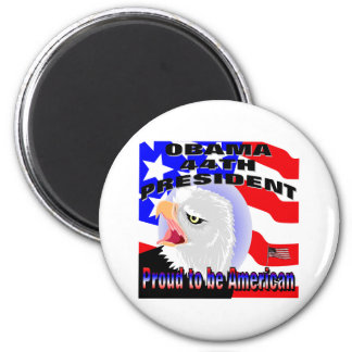 Proud American Barack Obama 2 Inch Round Magnet