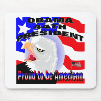 Proud American Barack Obama Mouse Pad
