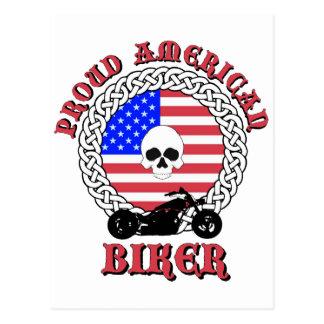 Bikersrus.com Proud American Biker Postcard