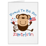 Proud American Boy Monkey Greeting Card
