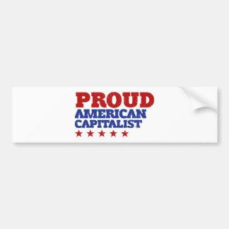 Proud American Capitalist Bumper Sticker