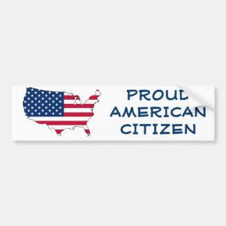 Proud American Citizen Car Bumper Sticker
