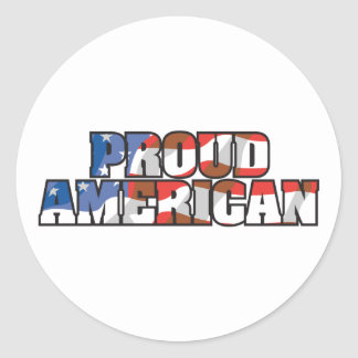 Proud American Classic Round Sticker