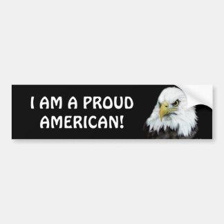Proud American Eagle Bumper Sticker Car Bumper Sticker