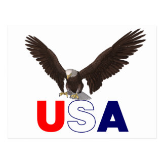 Proud American Eagle Postcard