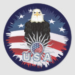 Proud American Eagle Round Sticker