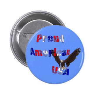 Proud American Eagle USA Patriotic Button