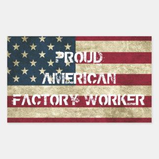 Proud American Factory Worker Sticker