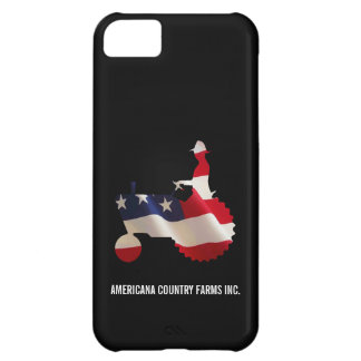 Proud American Farmer  USA Flag Tractor Case For iPhone 5C