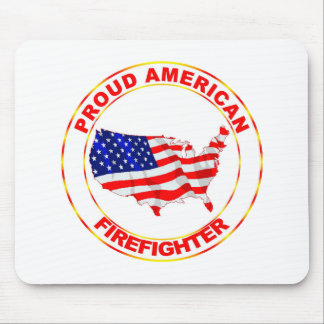PROUD AMERICAN FIREFIGHTER MOUSE PAD