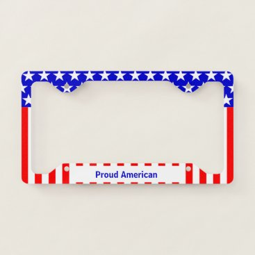 USA Themed Proud American Flag License Plate Frame