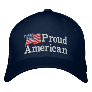 Proud American Flag NB Embroidered Baseball Caps