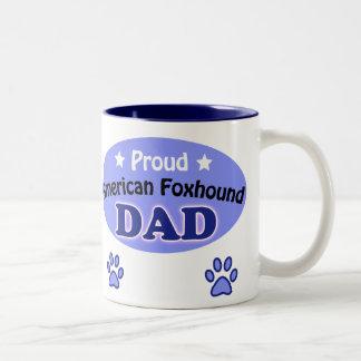 Proud American Foxhound Dad Two-Tone Coffee Mug
