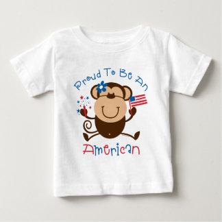 Proud American Girl Monkey Baby T-Shirt