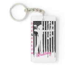 Proud American Huntress Key Chain Black/White