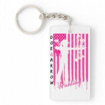 Proud American Huntress Pink Keychain
