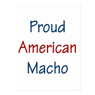 Proud American Macho Postcard