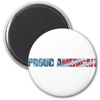 Proud American 2 Inch Round Magnet