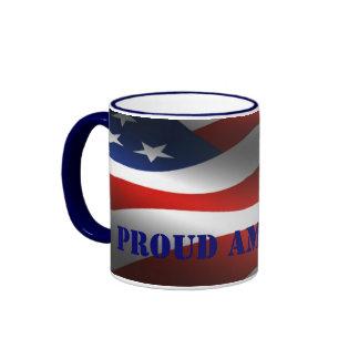 PROUD AMERICAN RINGER COFFEE MUG