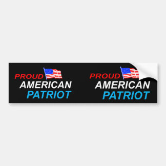 Proud American Patriot Car Bumper Sticker