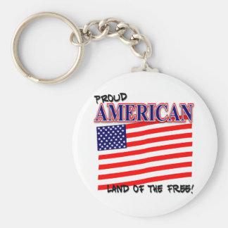 Proud American Patriotic Key Chain