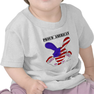 Proud American Pride Red White Blue Bunny Shirts