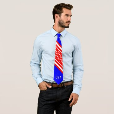 Professional Business Proud American Red White Blue USA Patriot Neck Tie