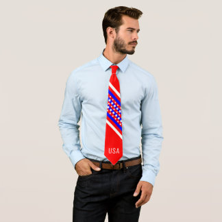 Proud American Red White Blue USA Patriot Tie