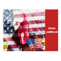 Proud American Rooster Postcard
