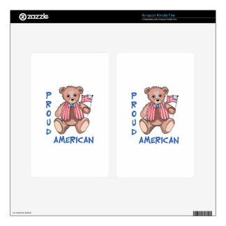 Proud American Kindle Fire Decal