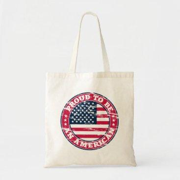 USA Themed Proud American Tote Bag