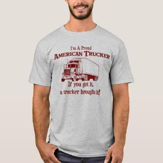 Proud American Trucker 2 T-Shirt