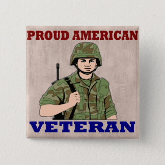 PROUD AMERICAN VETERAN BUTTON