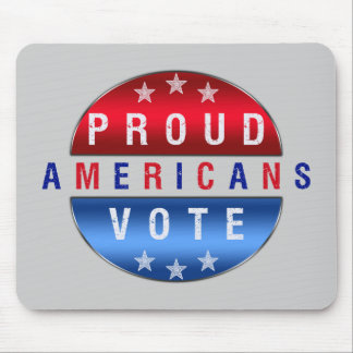 PROUD AMERICANS VOTE MOUSE PAD